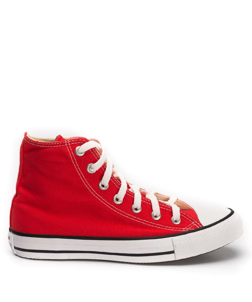 e637e6cfd3 Tênis All Star Converse Chuck Taylor Cano Alto Vermelho - ophicina