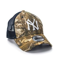 Boné New Era 940 Trucker Real Marinho NY Yankees MLB