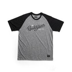 Camiseta--Quiksilver-Especial-Raglan-Shake-Cinza