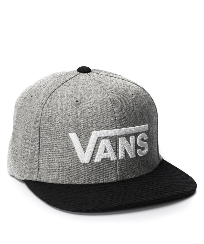 05a99e8fa5c4e Boné Vans Drop V II Snapback Cinza - ophicina