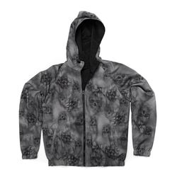 Jaqueta-MCD-Windbreak-Blured-Skull-Cinza