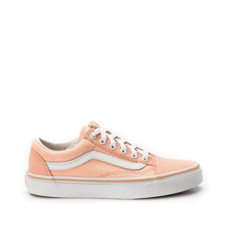 Tenis-Vans-Old-Skool-Marled-Canvas-Rosa-Branco-