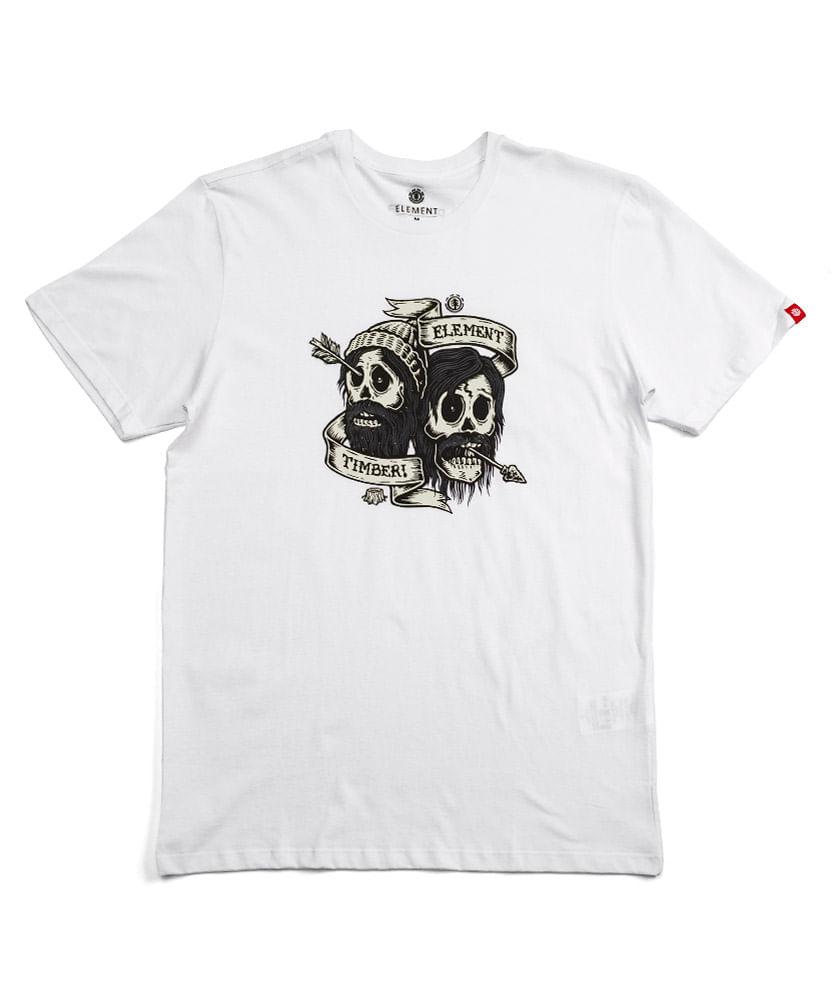 Camiseta Element Silk Brothers Branca - ophicina 7409ab01e19
