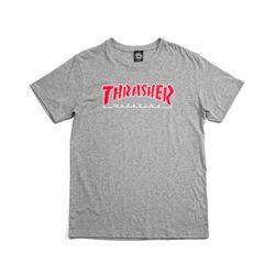 65ec9359e7ce9 Camiseta Thrasher Outline Cinza