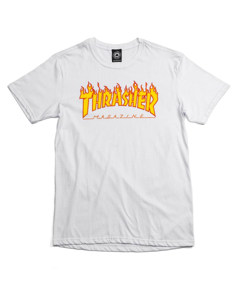 Camiseta Thrasher Flame Branca - ophicina 742f1e3959f