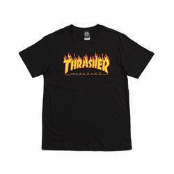 Camiseta-Thrasher-Flame-Preta