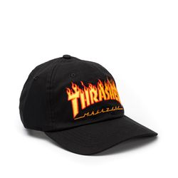 Bone-Thrasher-Dad-Hat-Flame-Preto