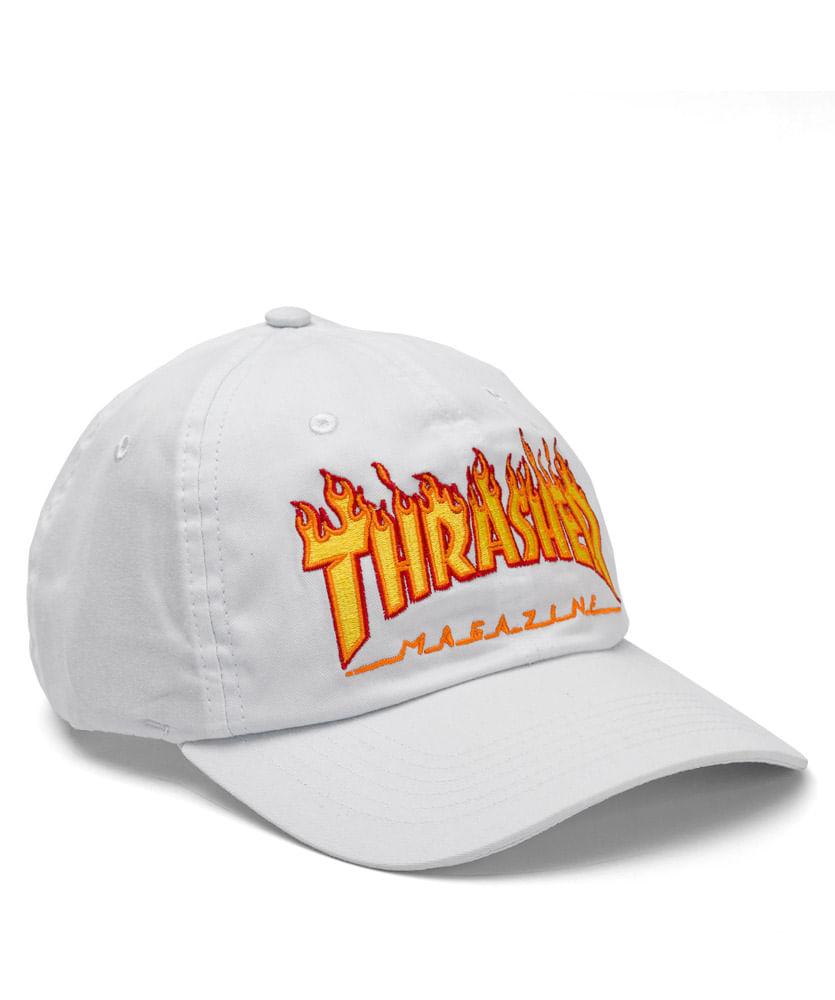 Boné Thrasher Dad Hat Flame Branco - ophicina df6167e171c
