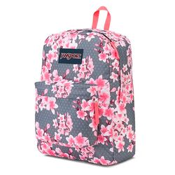 Mochila Jansport Superbreak Diamond Plumeria Pink 3074c3bff94