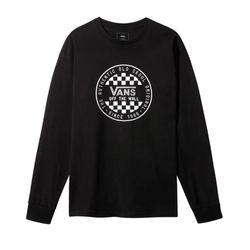 Camiseta-Manga-Longa-Vans-OG-Checker-LS-Preta-VN-0A49SZBLK