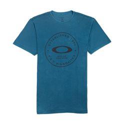 Camiseta-Oakley-Fraction-Washed-Tee-Azul-Petroleo-458055