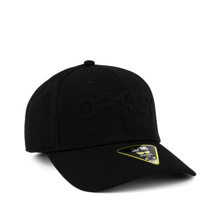 Bone-Oakley-6-Panel-Stretch-Hat-Embossed-Preto-912208