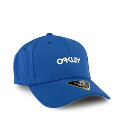 Bone-Oakley-6-Panel-Stretch-Hat-Metallic-Azul-912209